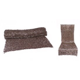 Ulfberth Chain mail nederdel, blandet fladskærms-ringe-kile nitter, 8 mm