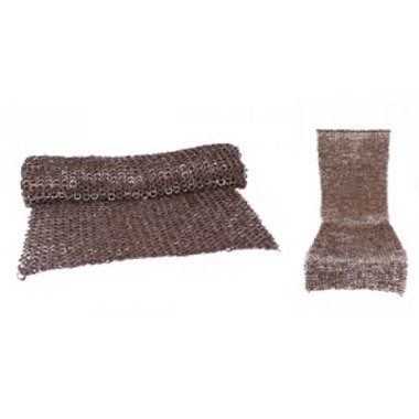 Chain mail skirt, mixed flat rings-wedge rivets, 8 mm