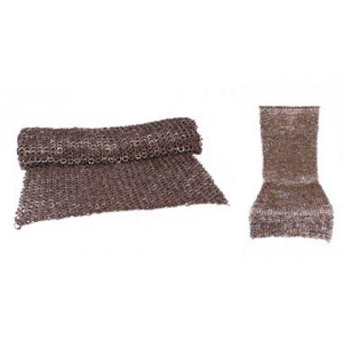Falda de malla, anillos planos mixtos-remaches en cuña, 8 mm