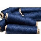 Rollo de lino azul oscuro, 50 m