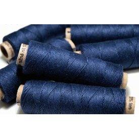 Filato di lino blu scuro, 50 m