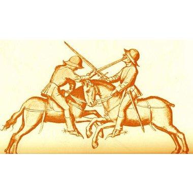 Espada medieval de caballero, una mano