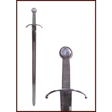 Medieval sword with bent cross-guard