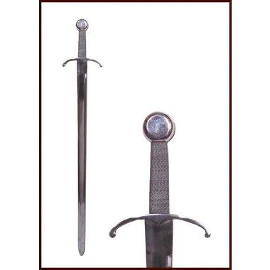 Spada medievale con guardia a braccia ricurve