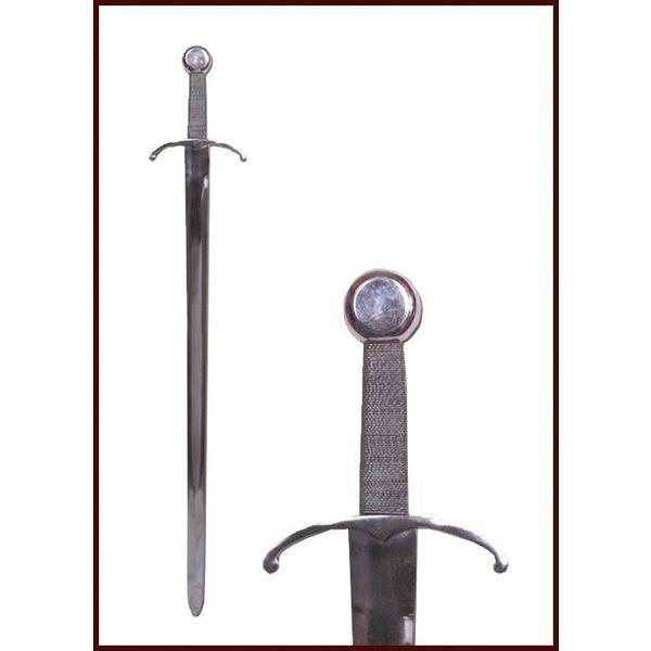 Middeleeuws zwaard met gebogen pareerstang