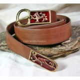 Enameled medieval belt