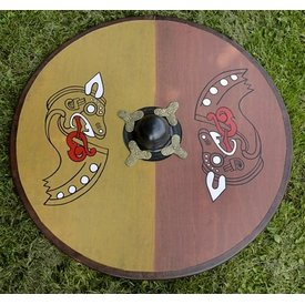 Viking round shield dragon