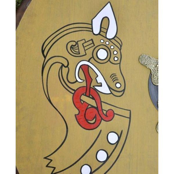 Viking round shield dragon