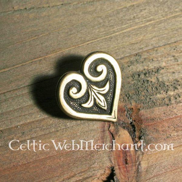 Bouton dà©coratif de ceinture, Viking, en forme de cÅ€œur