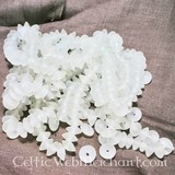 White disc bead (price per piece)