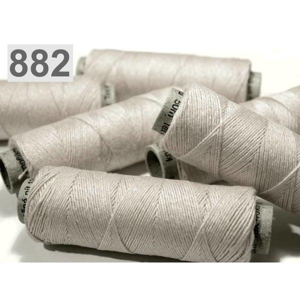 Rollo de lino gris claro, 50 m
