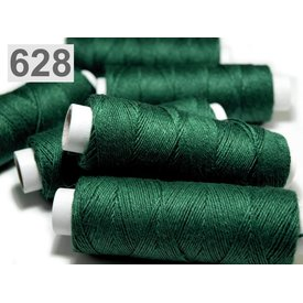 Linned garn mørkegrøn, 50 m