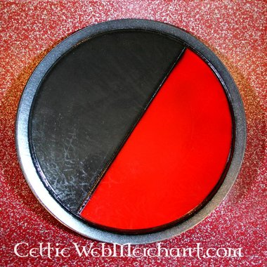 LARP escudo redondo negro/rojo