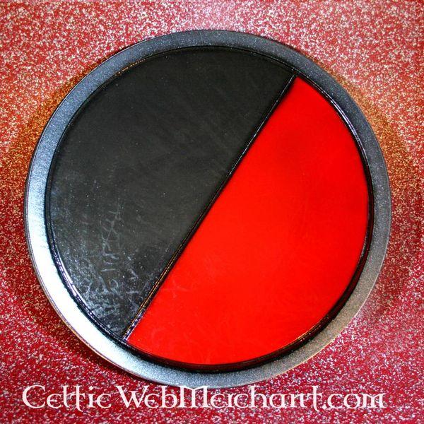 LARP Scudo rotondo nero-rosso