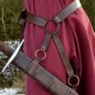 Ceinture d'armes médiévale traditionnelle