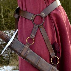 Deepeeka Cinturón tradicional medieval para espada