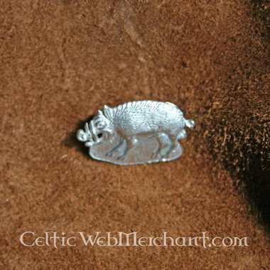 Distintivo medievale cinghiale selvaggio