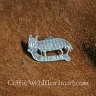 Insignia medieval gato y ratón