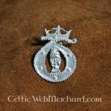 Medieval T badge