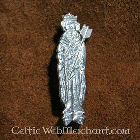 Middelalderlige badge af St. Edmund