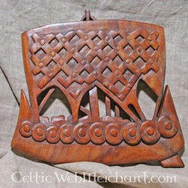 Drakar Viking en bois
