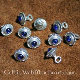 Sæt med 10 romanske knapper 1230-1260