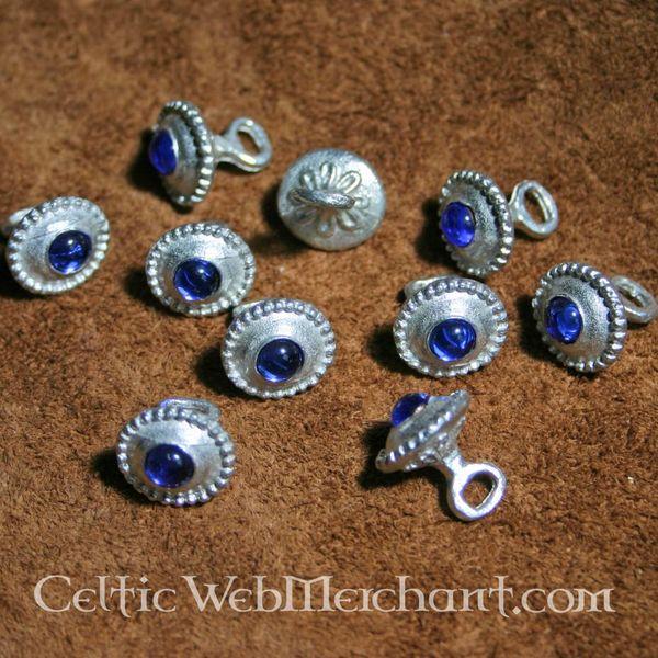 Set of 10 romanesque buttons 1230-1260