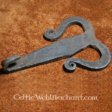 Gancio per cintura celtico forgiato a mano