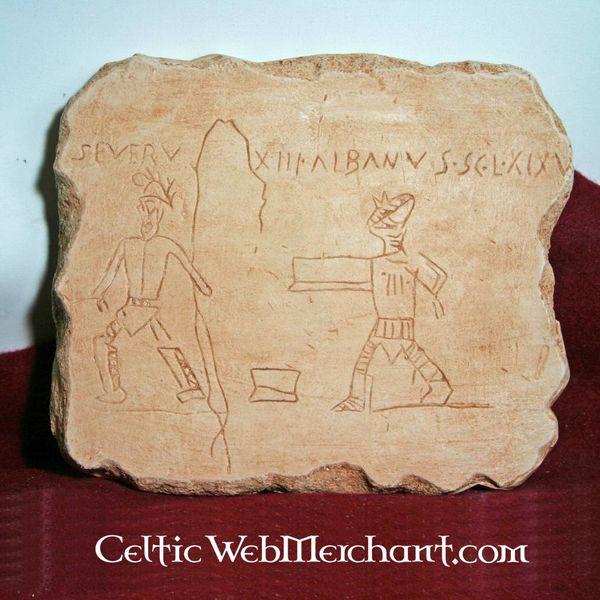 Gladiator graffiti Pompeii