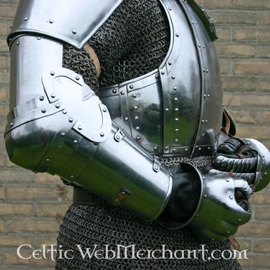 Bras d'armure Churburg, en acier