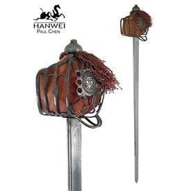Hanwei Epée écossaise Backsword à garde en panier, version patinée