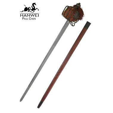 Epée écossaise Backsword à garde en panier, version patinée