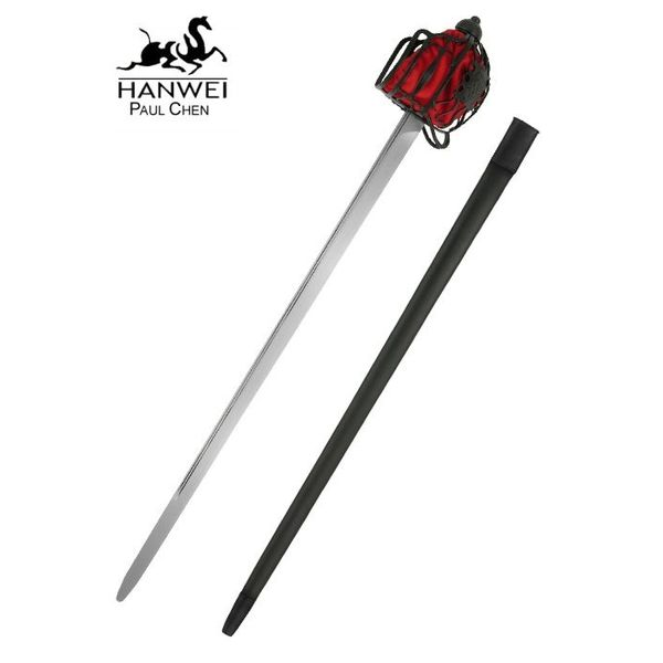 Hanwei Epée Backsword à garde en panier, prête au combat