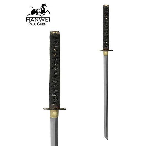 CAS Hanwei battle-ready Ninja katana med hvid Samé
