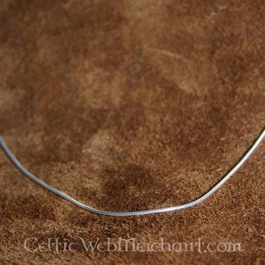 Collier en argent, 1,2 mm, 45 cm