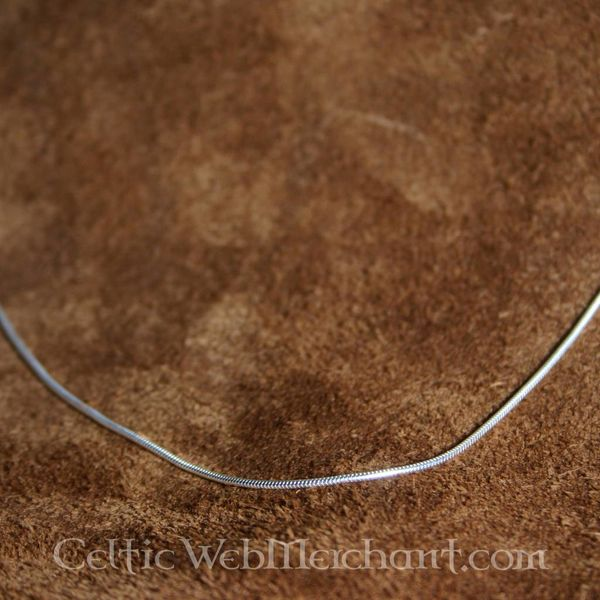 Silver necklace, 1,2 mm, 45 cm