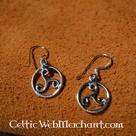 Triskelion earrings, silver