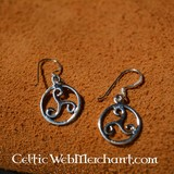 Triskelion earrings, silver