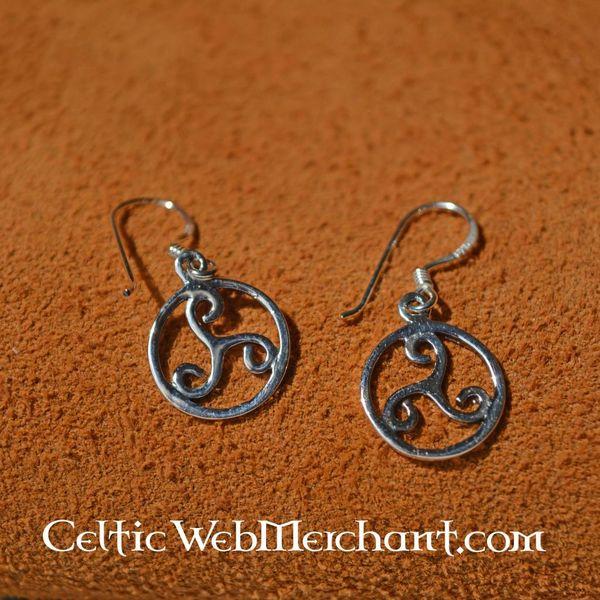 Triskelion orecchini, argento