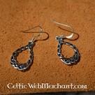 Orecchini knotwork celtiche, d'argento
