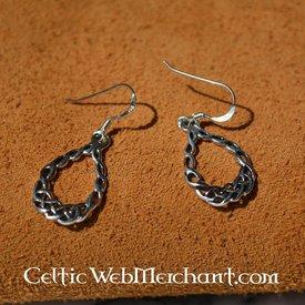 Keltische knoopwerkoorbellen, zilver
