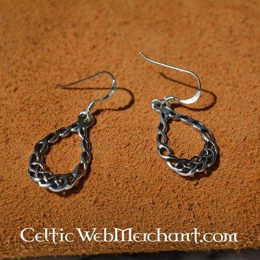 Celtic knotwork earrings, silver