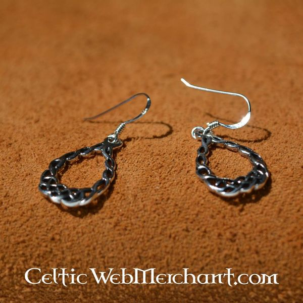 Celtic knotwork earrings, silver