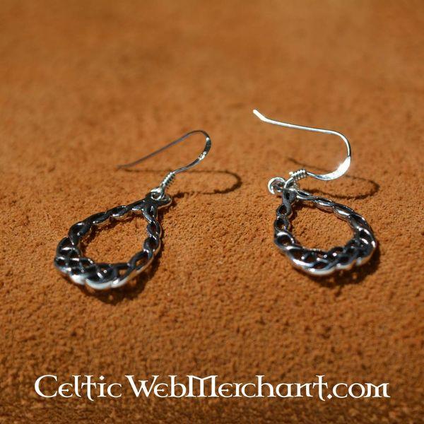 Celtic knotwork kolczyki, srebro
