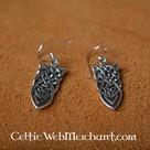 Keltische geknoopte oorbellen, zilver