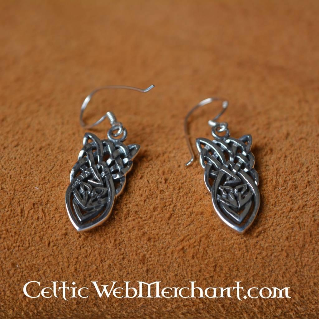 Keltische geknoopte oorbellen zilver - Outs idee open voor levende ...