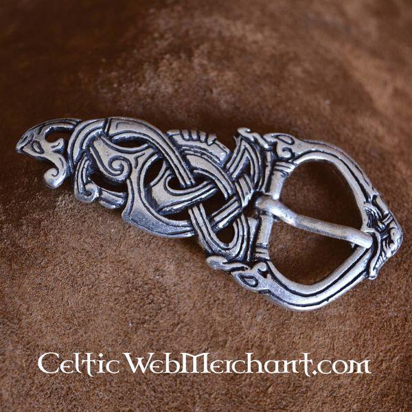 Viking buckle Midgard snake