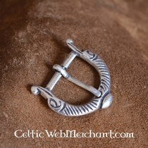 House of Warfare Zwartleren riem met ringsluiting, 170 cm