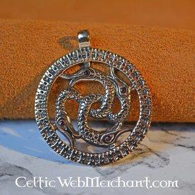 Viking snake pendant