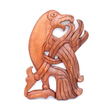 Sculpture en bois, Corbeau viking